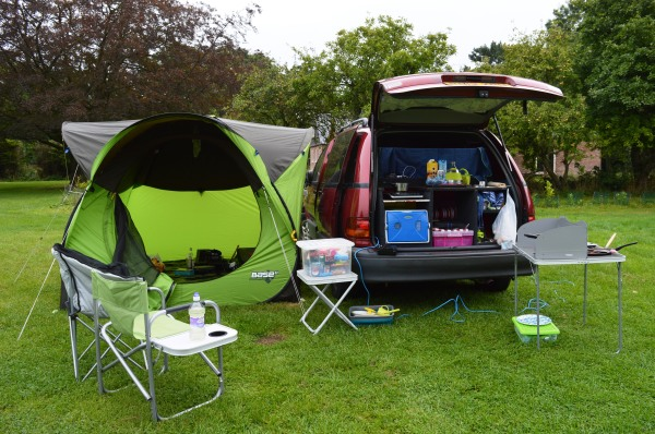 Campervan and Awning