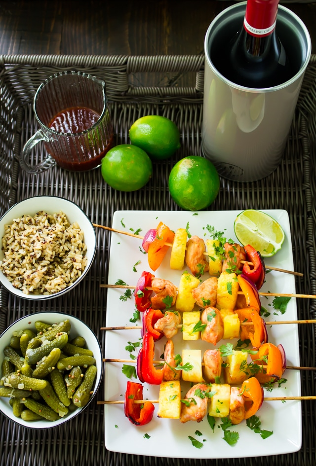 CAMPERVAN RECIPES: Sweet and Sour Chicken Kebabs